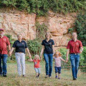 Die komplette Familie